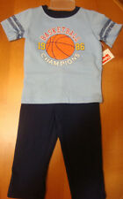 "INFANT & TODDLER BOYS 2PC FISHER PRICE ""BASKETBALL CHAMPIONS"" OUTFIT  SIZES VARY"