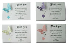 10 Personalised  Butterfly Thank You Cards Wedding, Engagement, Anniversary