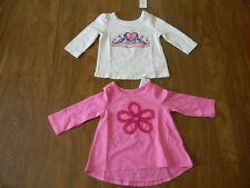 Girls Pink Cream Heart 6-9 12 24 Months 3T Childrens Place TCP Shirt NWT $12.50
