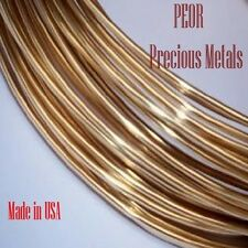 18K  YELLOW  GOLD ROUND WIRE, 1 FOOT, 12 TO 30 GAUGES, Made In USA