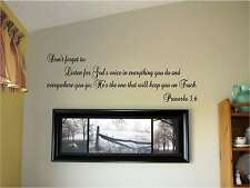 Listen for Gods voice in everything you do Vinyl Wall Art Words Decal Sticker