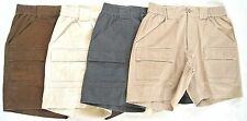 Natural Issue GREAT-LOOKING! Stretch Waist Shorts w/Unique Cargo Pockets NWT