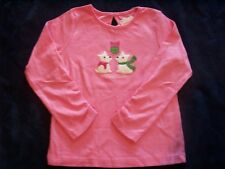NWT Girl's Gymboree Cheery All The Way dog long sleeve shirt 18-24 months 2T 3T