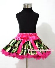 Hot Pink Camouflage Print FULL Girl Pettiskirt Skirt Dance Tutu Party Dress 1-8Y