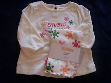 NWT Girl's Gymboree Cheery All Way long sleeve shirt & leggings ~ 3-6 months 3T