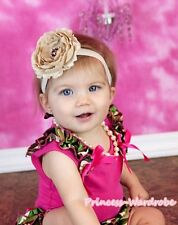 Hot Pink Pettitop Top Camo Camouflage Ruffles Hot Pink Bow 4 Pettiskirt NB-8Year