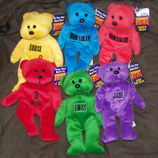 Personalised Beanie Bears - Named Bean bag Teddy - New with Tags