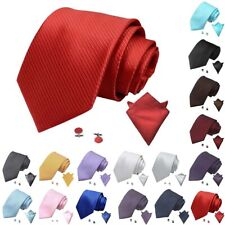 Mens Striped Business Formal Woven Silk Ties Wedding Groomsmen Party Tie Necktie