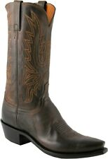 Men's 1883 By Lucchese Western Boots N1556 5/4 Chocolate Mad Dog Goat Leather