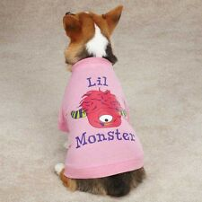 Casual Canine Lil' Monster Tee Shirt Dog Puppy CUTE One Eyed PINK