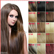 "14""-30"" Full Head Clip in Remy Human Hair Extensions 7500 more sold!"