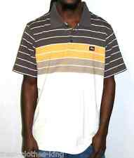 LRG Lifted Research Group Polo Shirt Brown Stripped Classic Fit Choose Size
