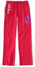 Pink Aeropostale Aero New York 87 Boyfriend Womens Fleece Sweat Pants Sz M L XL