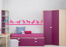 VINYL WALL ART BORDERS STICKERS KIDS CHILDRENS BEDROOM HORSE