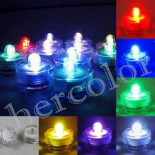 12 Multicolor Dual LED Submersible Party Wedding Tea Lights Decoration