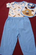 "INFANT BABY BOYS FISHER PRICE  3PC ""WOOF"" PANTS OUTFIT SIZES 3 THRU 9 MONTHS NWT"