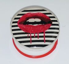 "New Acrylic Dripping Lips logo Single Flared Solid Plugs. ( 2 Gauge to 1"" inch)"