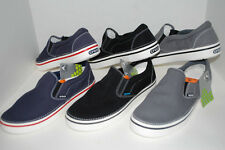 NEW NWT CROCS HOVER SLIP-ON canvas shoe 7 9 10 11 12 13 BLACK NAVY CHARCOAL GREY