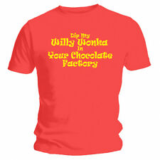 Dip My Willy Wonka ... Funny / Rude Red Joke T-Shirt - NEW - Front Print