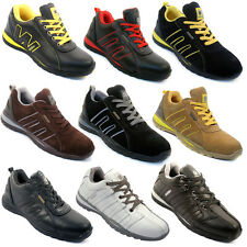 **MEN SAFETY TRAINERS SHOES BOOTS WORK STEEL TOE CAP HIKER ANKLE SIZE 6-12UK NEW