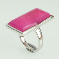 New Fashion Rectangle Stone Ring Jewelry Size 6 7 1/4 8 10 Red