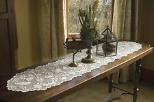 """Heritage Lace Bristol Garden Runner 14"""" x 36"""" - Colors: Cafe and White"""
