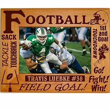Personalized Football Wood Picture Frames 4x6 5x7 8x10  Team Sports Custom Photo