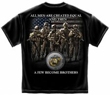 USMC Marine Corps Tshirt All Men Are Created Equal Semper Fi Devil Dog Soldier