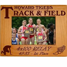 Personalized Boys Girls Track Engraved Picture Frames 4x6 5x7 8x10 Team Photo