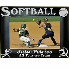 Softball Personalized Metal Picture Photo Frames 4x6 5x7 8x10 Laser Engraved