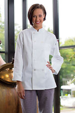 Napa womens chef coat, black or white, sizes available XS to 6XL, 0475