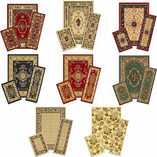 TRADITIONAL persian ACCENT mat RUNNER area RUG 3 piece SET floral BORDER carpet