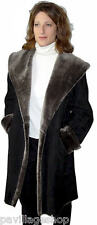 Ladies 3/4 Spanish Merino Shearling Coat, sizes XS to XL