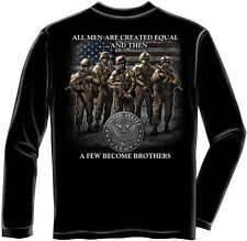 United States Army Long Sleeve Shirt All Men Are Created Equal Soldier Military