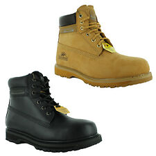 New Mens Groundwork Lace Up Steel Toe Safety Ankle Boots Size UK 7 8 9 10 11