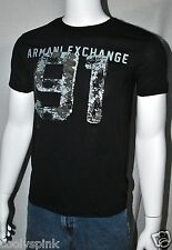 Armani Exchange T Shirt Men Black Logo and 91 Graphic Front M L