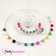 Personalised Wine Glass Charms - Parties, Weddings Favours, Hen Party Gift Idea