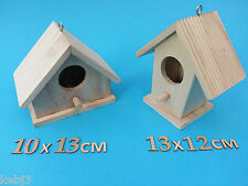 Hanging Wooden BIRD HOUSE Plus Other CRAFT Wooden Items to decorate Suitcases
