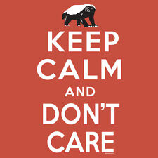 Men's Honey Badger Keep Calm and Don't Care T-Shirt OFFICIAL GENUINE NWT