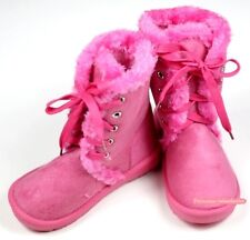 Winter Snow Adorable Casual Toddler Girl Hot Pink Suede Shoes Boots Mid Calf