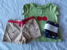 NWT Girl's Gymboree Cherry Cute short sleeve shirt & shorts & leggings ~ 2T