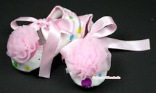 Infant Newborn Baby Girl Light Pink Rainbow Crib Shoes Light Pink Rose 0-18Month