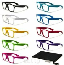Unisex Chic Fashion Style Cool Clear Lens Frame Wayfarer Sport Nerd Sun Glasses