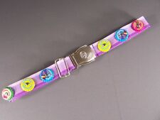 "Purple stripe seat belt soda pop bottle cap canvas adjustable seatbelt 1.25""wide"