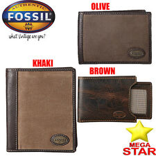 MENS FOSSIL WALLETS AND PASSPORT HOLDERS NEW COLLECTION (BRAND NEW)