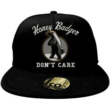 Men's Honey Badger Don't Care Flat Brim Baseball Cap Hat GENUINE DUCK CO NWT