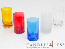 """4"""" Tall Votive Holders (Set of 72) Choose From 5 Colors"""
