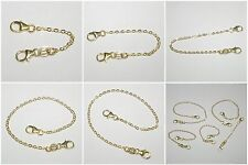 14kt GOLD FILLED 1.5x2mm Flat Cable Chain EXTENDER with Two Lobster Claw Clasps
