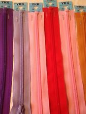 "25cm/ 10"" Medium Weight  YKK Open End Zip - 26 Colours -  Choose Your Own"