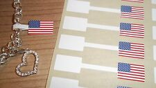 American Flag Jewellery Price Stickers 16 x 54mm Sticky Label Tags / Dumbells